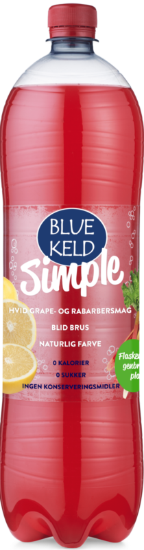 Blue Keld Simple Hvid grape/rabarber